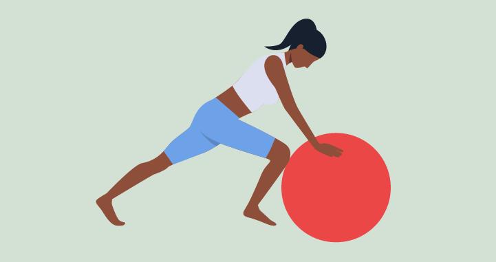 Menghitung jari-jari Body Ball Yoga