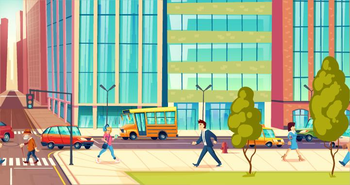 Berangkat Kerja di Kota