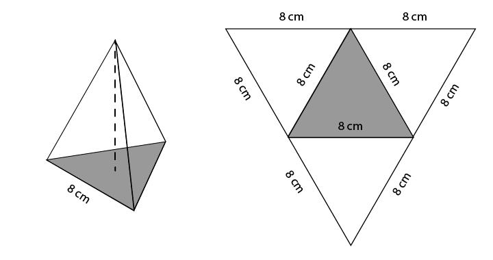 Soal dan pembahasan limas segitiga tetrahedron luas permukaan