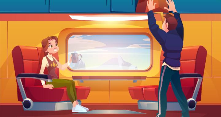 Rosa naik kereta menuju Surabaya